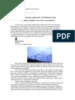 A questão ecológica em J Bellamy Foster, um debate