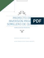 Informe Sobre Proyecto de Inversión Privado PRESENTAR