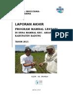Laporan Akhir Program Mambal Lestari 2015 (Final)