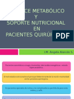 Balance Metabólico y Soporte Nutricional en Pacientes Quirúrgicos