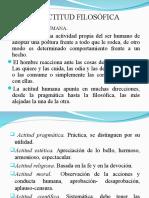 ACTITUD FILOSÓFICA