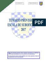 Temario Provisional Suboficiales 2017
