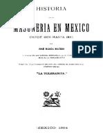 Historia de La Masonería en México 1806-1884 LIBRO