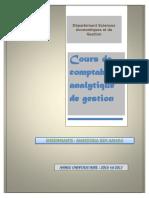 Cours Comptabilite Analytique Gestion Manoubia Ben Amara