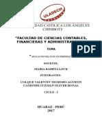 Aplicacion del Plan Contable General en empresas