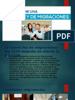 Ley de Migraciones 1350