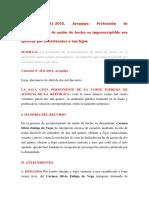 Casación 4121-2015 Arequipa Reconocimiento Union de Hecho