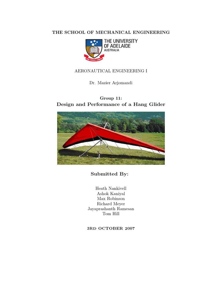 arjomandi | Glider (Sailplane) | Flight Dynamics (Fixed Wing