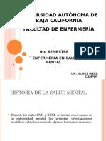 Historia de La Salud Mental
