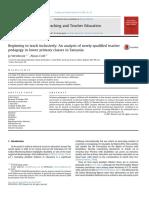 Un Análisis de La Pedagogía de Maestros Recién Calificados en Las Clases de Primaria en Tanzania