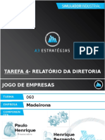 Tarefa 3- Relatório Da Diretoria