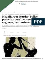 Muzaffarpur Murder_ Police Probe 'Dispute' Between Woman Engineer, Her Business Partner _ the Indian Express
