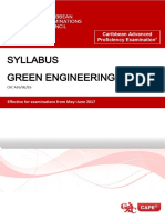 CAPE Green Engineering Syllabus