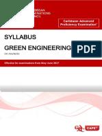 CAPE Green Engineering Syllabus
