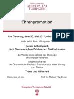Plakat Ehrenpromotion