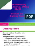 Cutting Force