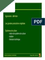 2007 09 26, Agronomie Generale