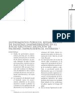 Argentina. Jurisprudencia Instrumentos Publicos