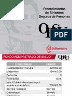 Procedimientos de Siniestros de Seguros de Personas OPSU 2017