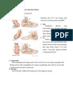 Penatalaksanaan Trauma Ankle