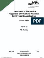 Rostasy Concrete Cryogenic Applications