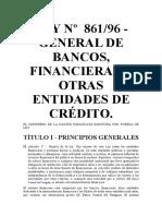 BANCOS, FINANCIERAS