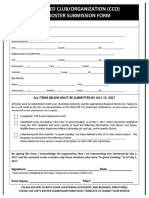 2018 Club Roster Submission Form