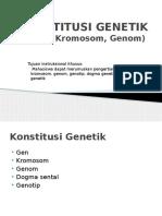 KONSTITUSI GENETIK
