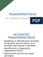 Clase de Transoperatorio