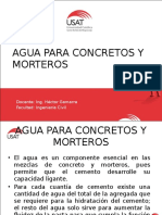Materiales de Construccion Agua Para Concretos y Morteros