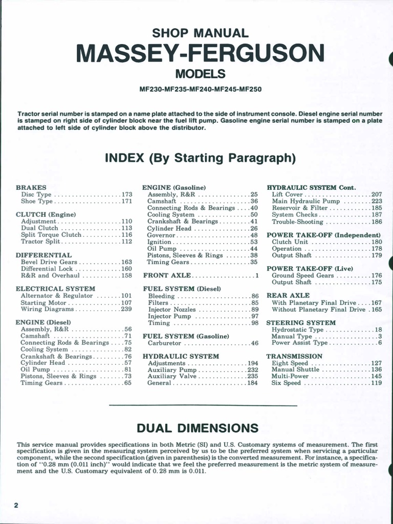 massey ferguson mf 35 35x tractor parts manual pdf