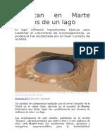 Detectan en Marte Rezagos de Un Lago