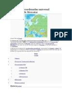 Sistema de Coordenadas Universal Transversal de Mercator