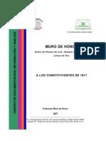 Letras de Oro Constituyentes de 1917 Hombres