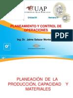 Planeación de La Producción, Capacidad y Materiales 05