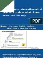 Day 2 Mathematical Flexibility Summer 2017