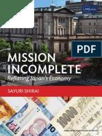 Adbi Mission Incomplete Reflating Japan Economy