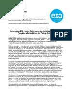 Informe de EIA Revela Deforestación Ilegal en La Amazonía Peruana Plantaciones de Palma Aceitera