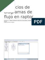 Ejercicios de diagramas de flujo en raptor