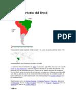 Historia Territorial Del Brasil