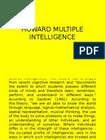Howard Multiple Intelligence