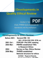 PHREB National Developments Ethics Review