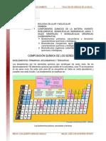 01. Bielementos Biomoleculas Inorganicas Agua Sales Minerales Biomoleculas Organicas Carbohidratos Lectura