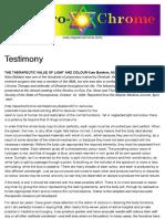 Testimony – Spectro-Chrome Metry