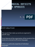 Phonological Deficits in Aphasia