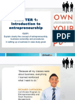 Introduction to Entrepreneurship Chapter 1 Week 1 -Introduction