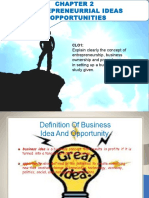 Introduction to Entrepreneurship Chapter 2 Business Idea  ENTREPRENEURRIAL IDEAS & OPPORTUNITIES
