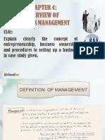 Introduction to Entrepreneurship Chapter 4 Business Management