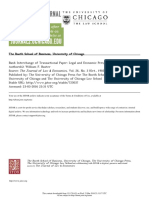 Bank Interchange of Transactional Paper Legal and Economic Perspectives