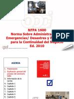 NFPA 1600 Seminario 2014